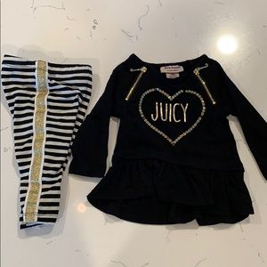 3/6M Juicy Couture baby set (used)